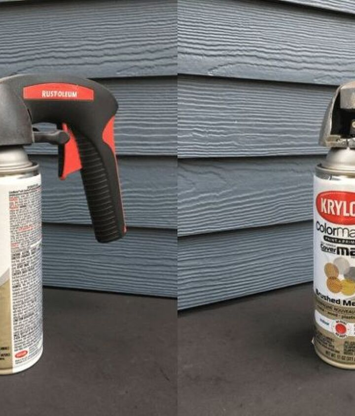 spray paint curtain rods for a whole new look