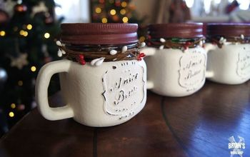 Easy Dollar Store Christmas Jars!