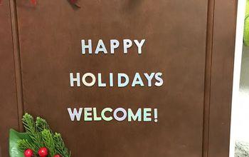 welcome christmas door, My Finished door Welcome