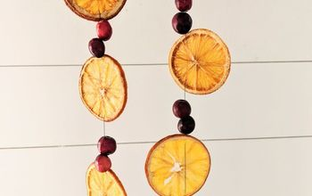 Dried Orange and Cranberry Christmas Garland - Budget Friendly