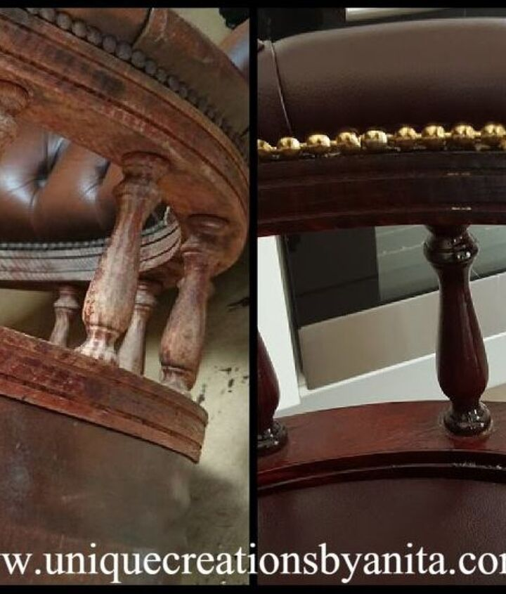 captains chair restored