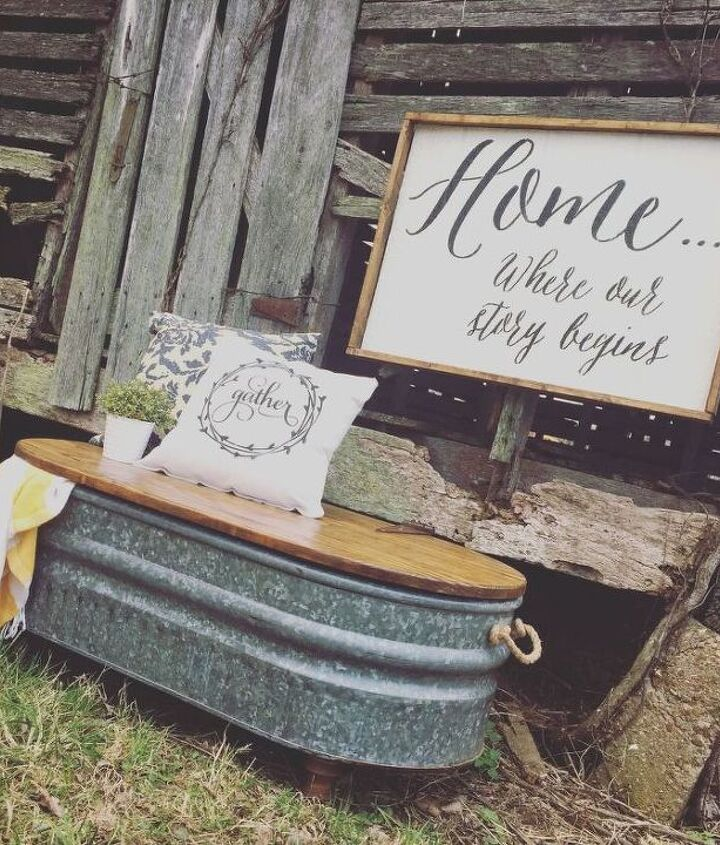 Livestock Water Trough Turned Coffee Table (Junk Love Boutique)