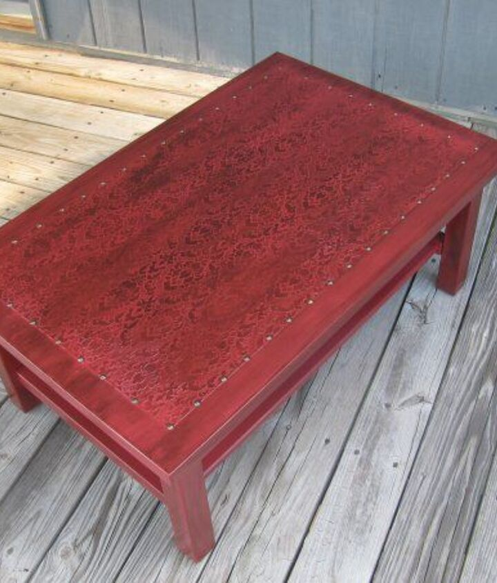 Faux Leather Coffee Table (Alicia Wilkerson)