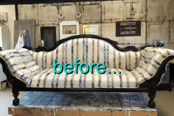how to paint fabric furniture easily
