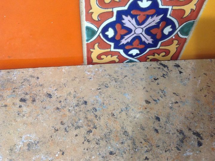 q how can i redo my counters to not be too busy looking against my tile