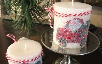 sparkle holiday candle