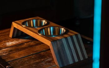 How to Build a Pet Dish Holder Out of Scrap Wood