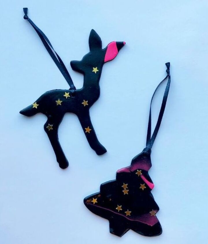whimsical clay christmas ornaments