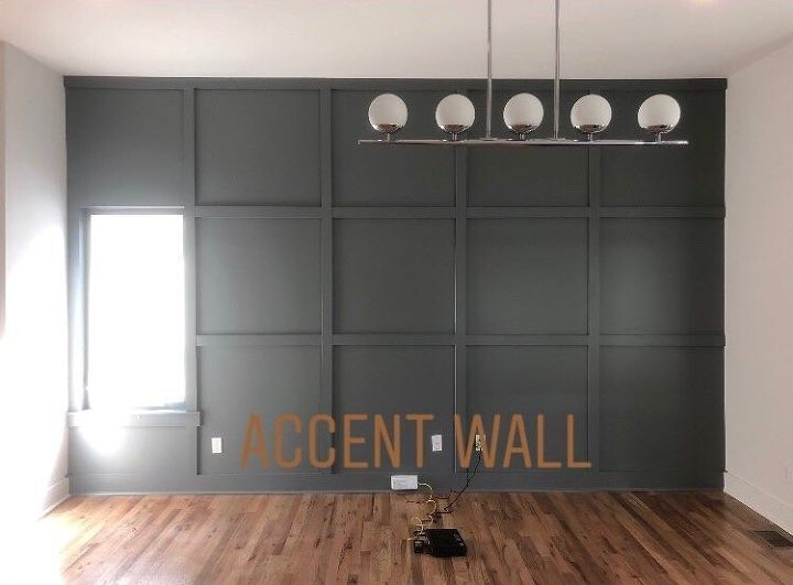 simple square accent wall