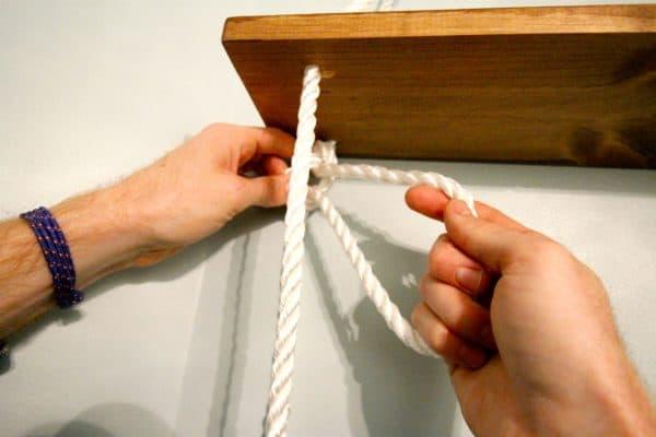 diy nautical rope shelving