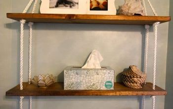 DIY NAUTICAL ROPE SHELVING