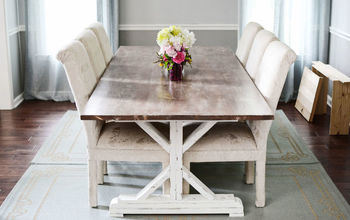 Paint, Stain, Whitewash & Distress a Farmhouse Table by Ana White