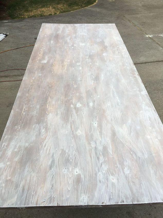 paint stain whitewash distress a farmhouse table by ana white