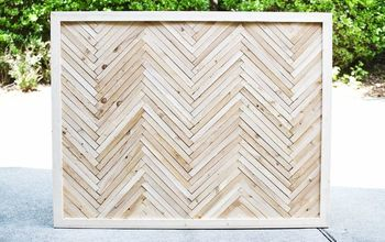 How to Build a Diy Herringbone Headboard With Wood Shims.