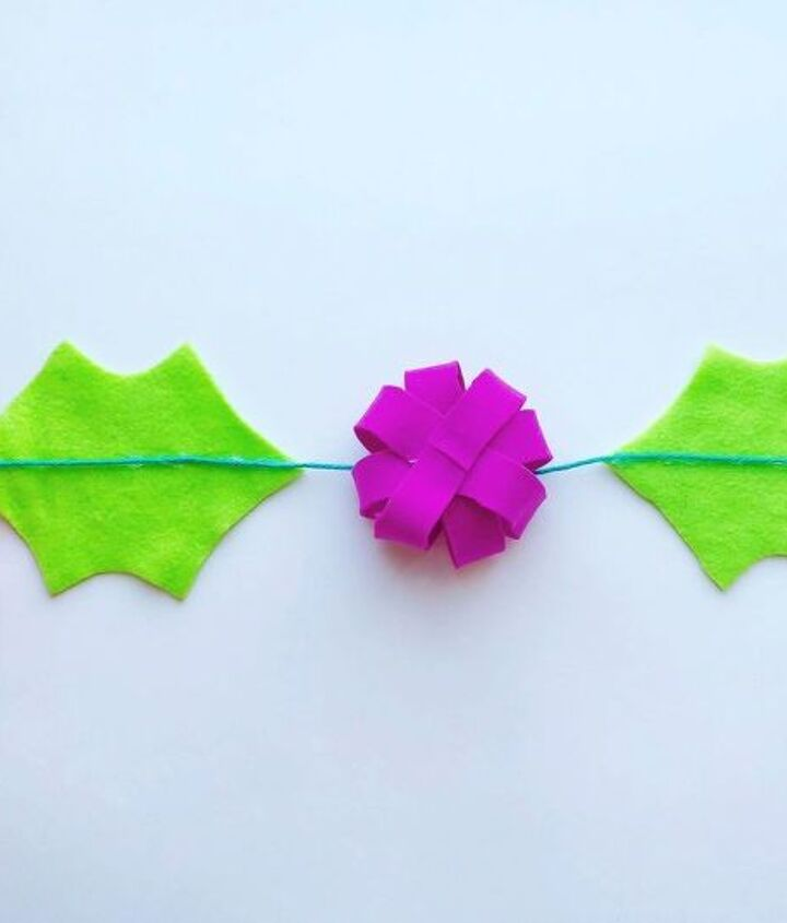 colorful and modern holly garland