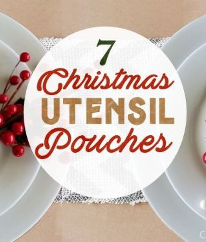 festive simple utensil pouches