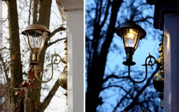 flea market sconces with solar lights for porch, Beautiful in the day light lovely at night