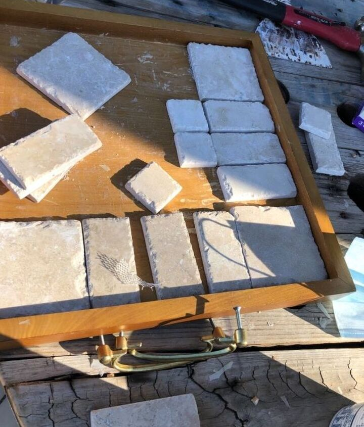 First choice was slate tiles