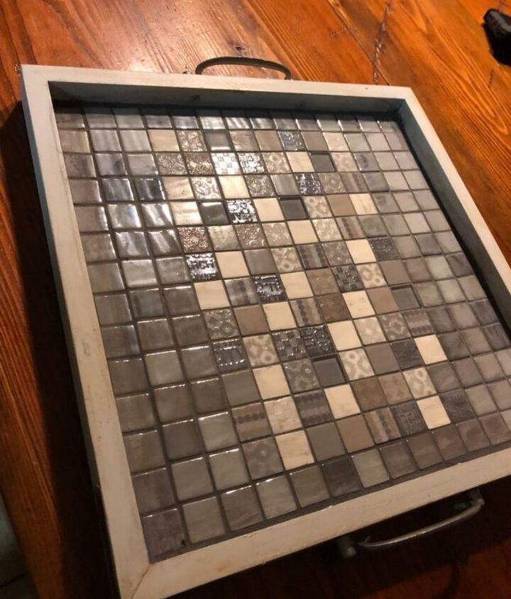 Grout dried