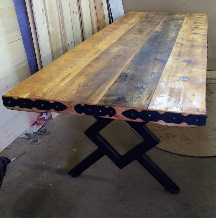 recycled old wood table