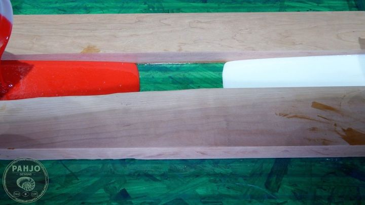 diy wood and resin river wall art baseball storage rack