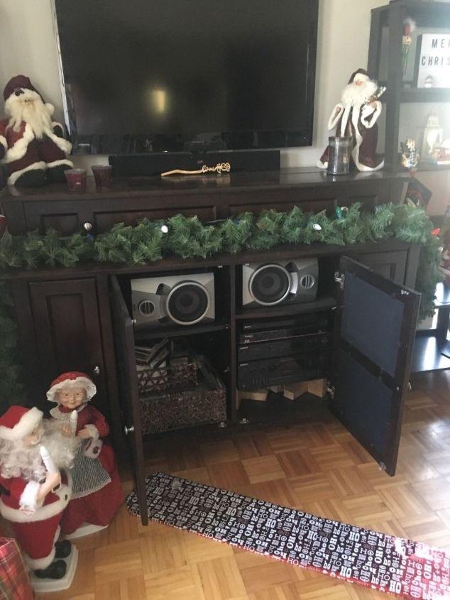 q add an electric fireplace insert into an entertainment center