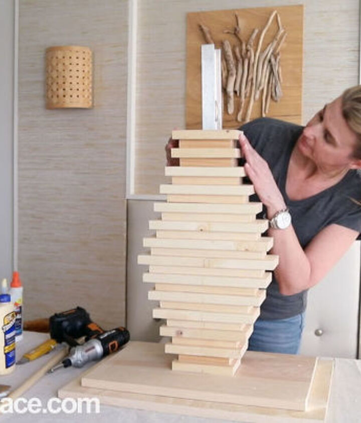diy side table bedside table made from leftover wood