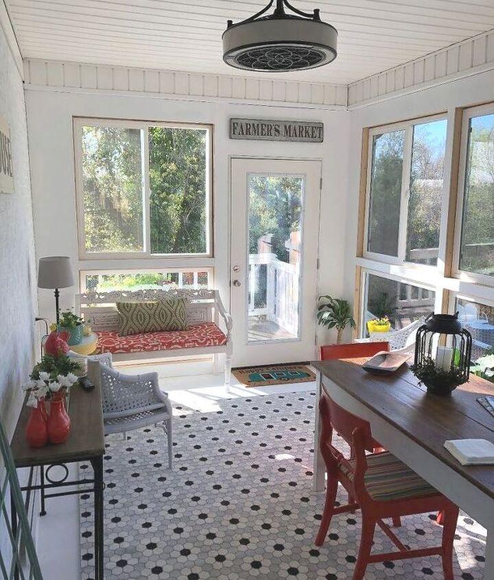 porch transformed to a sunroom