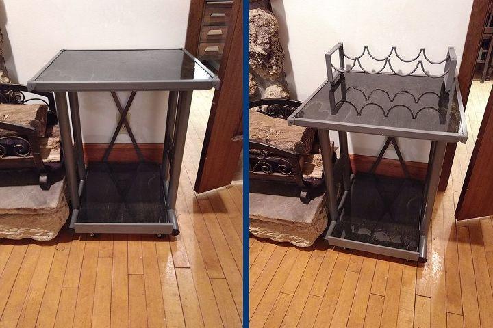 office shelf to bar cart