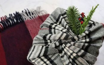 diy no waste gift wrap with a scarf