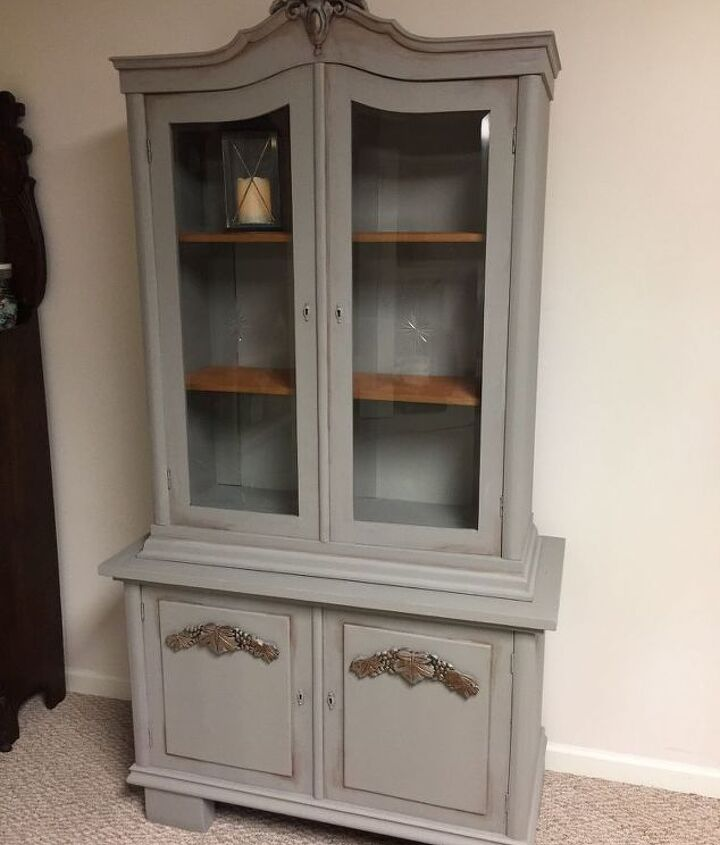 antique cabinet redo
