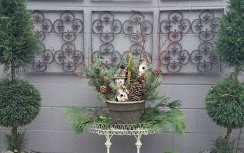 DIY Outdoor Planter Winter Arrangement
