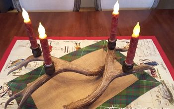 DIY Deer Antler Candle Holders