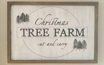 DIY Wooden Christmas Sign