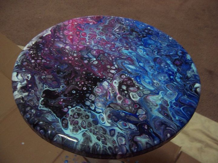 dirty pour table top