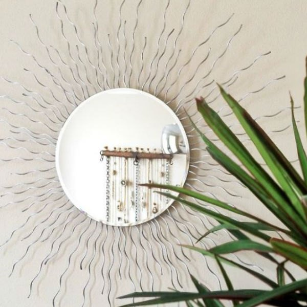 how to make a sunburst mirror using wire rope