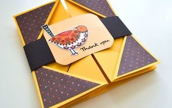 How to Make a Napkin Fold Card | Thank You Card