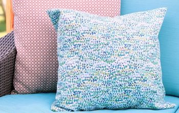how to sew an outdoor pillow cover