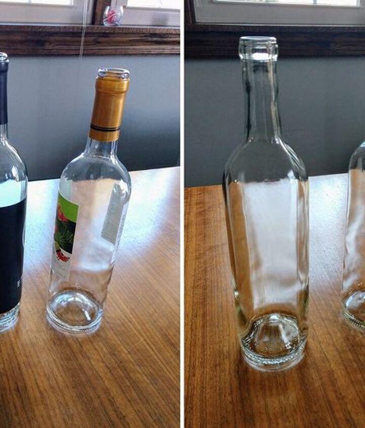 wine bottle to holiday vase
