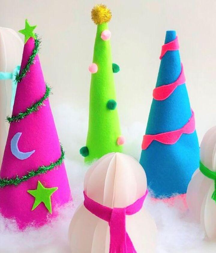 felt christmas tree cones