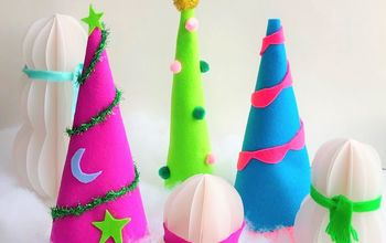 felt christmas tree cones