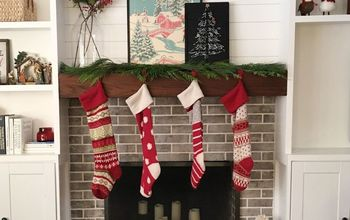 Christmas Fireplace Art With Wrapping Paper
