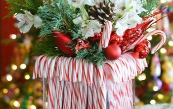 Easy Candy Cane Vase Centerpiece