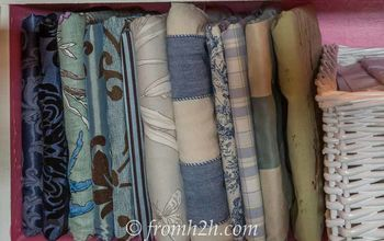cheap and easy way to organize fabric scraps