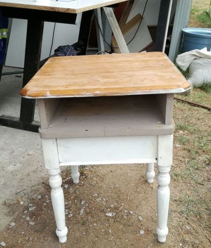 Old base with drawer & top being checked
