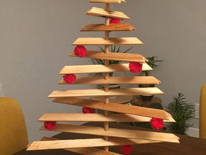 upcycled wood christmas tree