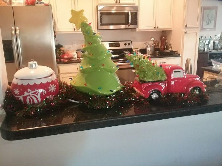q what glue to use on the lights for retro ceramic tree and truck