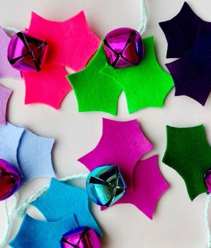 colorful holly ornaments