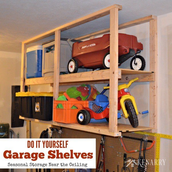 DIY garage storage (Carrie @ Kenarry)