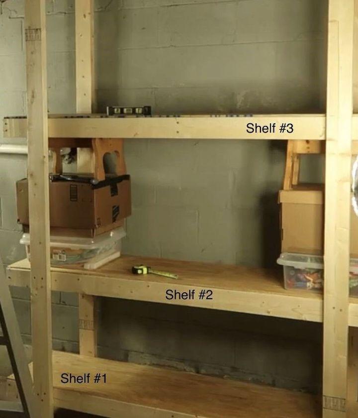 diy garage storage shelves (Alicia W)